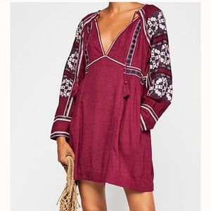 Free People All my Life western embroidered dress